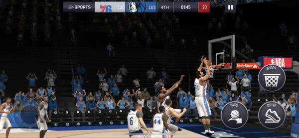 NBA LIVE Mobile試合中
