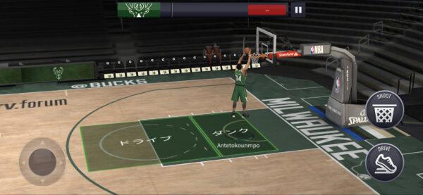 NBA LIVE Mobileダンク