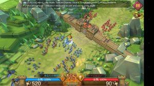 ロードモバイルの戦役の戦闘画面