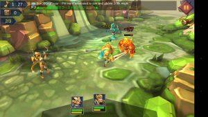 ロードモバイルの冒険モード戦闘画面