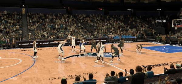 NBA 2K Mobile試合中