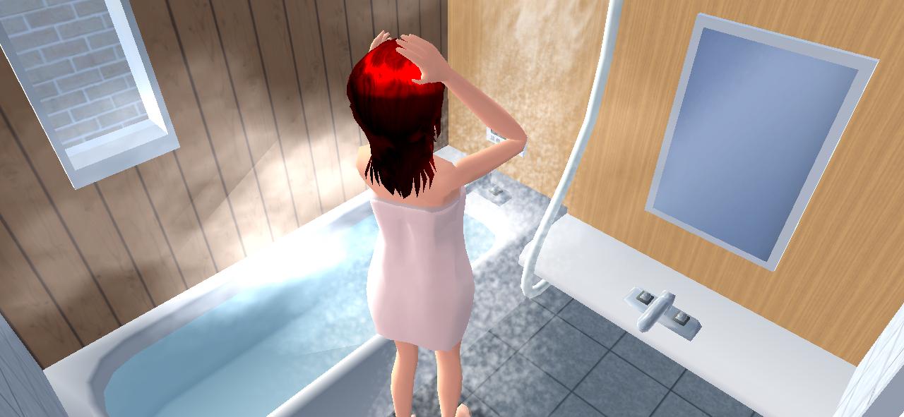 サクラスクールシュミレーターの自宅のお風呂
