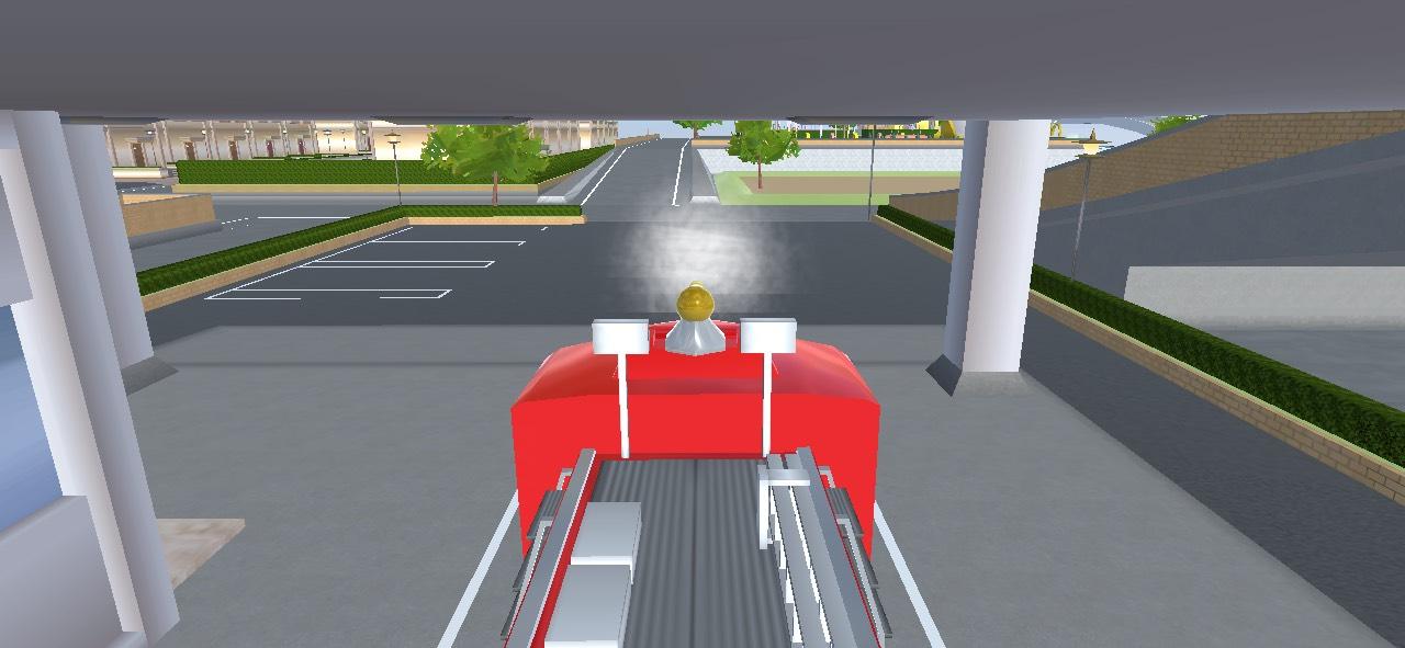 サクラスクールシュミレーターの消防車
