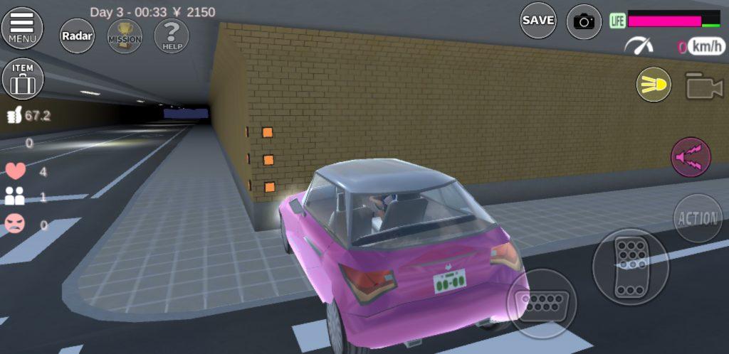 サクラスクールシュミレーターの車 衝突
