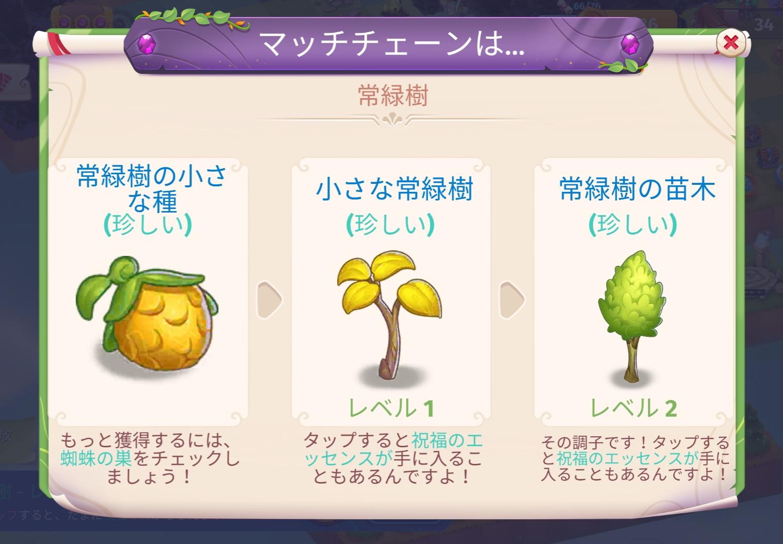 マージマジック 常緑樹一覧