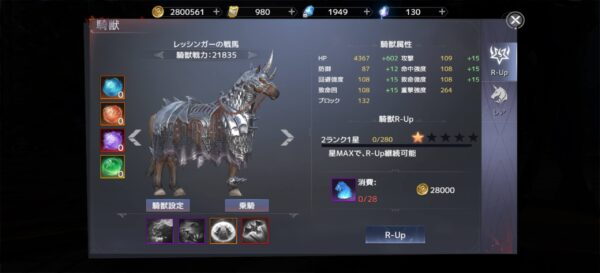 フォーセイクンワールド馬